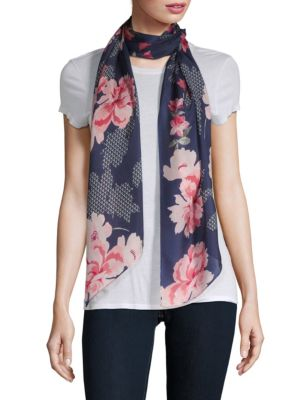 Blooms Silk Scarf