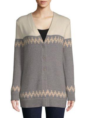 Colorblock Wool Cardigan