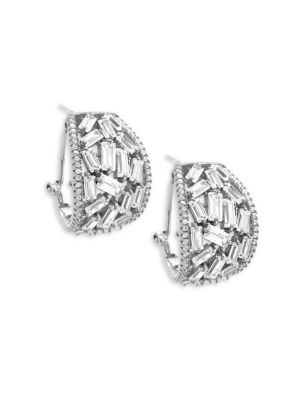 CRYSTAL AND STERLING SILVER DROP EARRINGS
