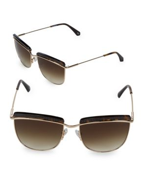 56MM Tortoise Sunglasses
