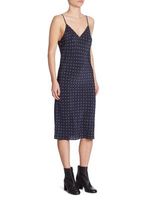 Refined Dot Silk Slip Dress