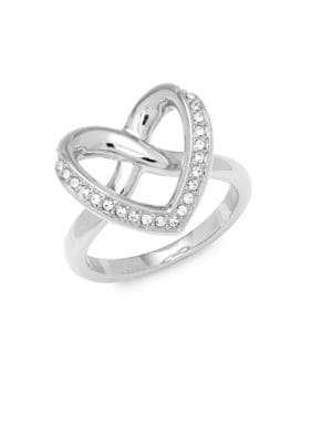 CRYSTAL HEART RING