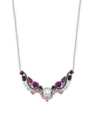 CRYSTAL IMPULSE PLATED NECKLACE