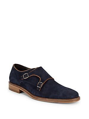 Joseph Double Monk-Strap Leather Dress Shoes