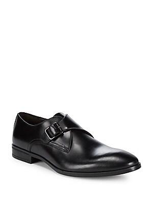 Regale Leather Monk-Strap Dress Shoes