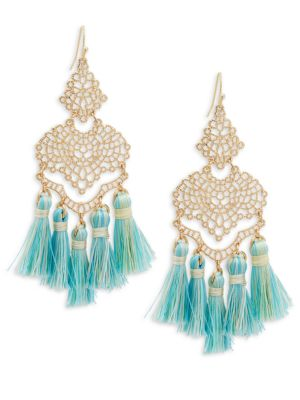 Panacea Filigree Tassel Drop Earrings 2Ze9JGIZ