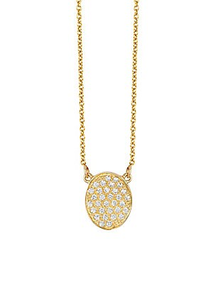 14K Yellow Gold and Diamond Pendant, 0.22 TCW