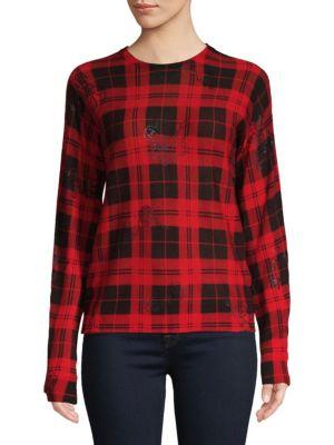 Plaid Long Sleeve Sweater