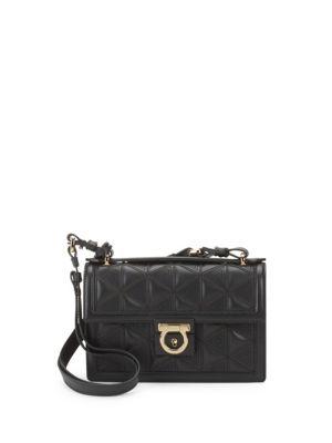 Aileen Textured Leather Shoulder Bag