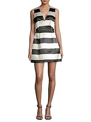 Patty Striped Satin Dress