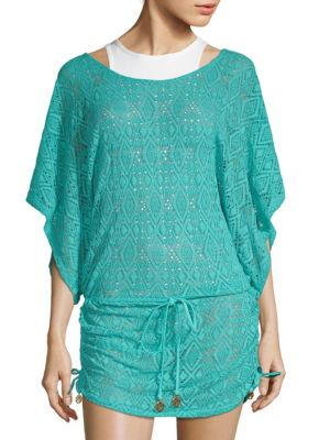 GEOMETRICAL LACE COVERUP