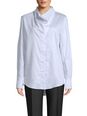 Cotton Cowlneck Shirt