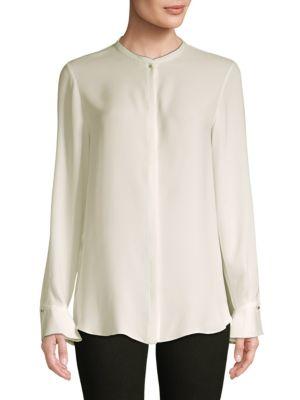 Danielle Silk Button-Down Shirt