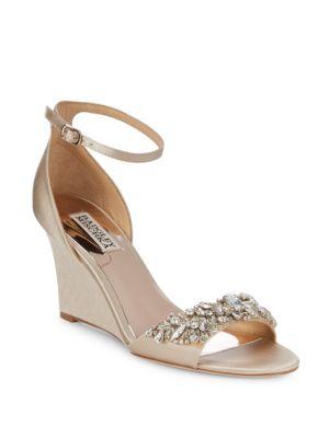 Tyra Embellished Satin Ankle Strap Sandals