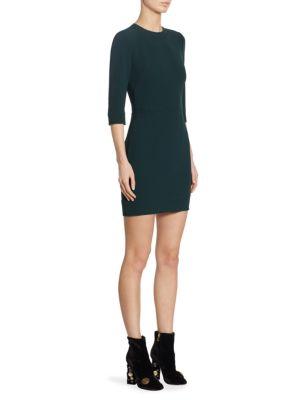 Topstitch Detail Cady Mini Dress