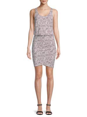 Jan Printed Blouson Dress