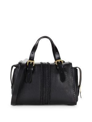 Loralie Whipstitch Leather Satchel