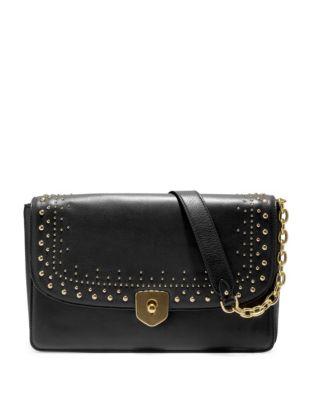 Marli Studded Leather Clutch