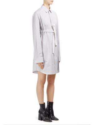 Cotton Poplin Striped Dress