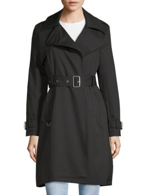 Notch Lapel Belted Trench Coat