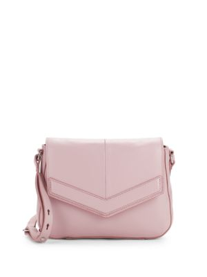 Leather Chevron Saddle Bag