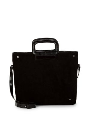 Suede & Leather Satchel