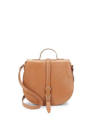 Smooth Leather Saddle Bag