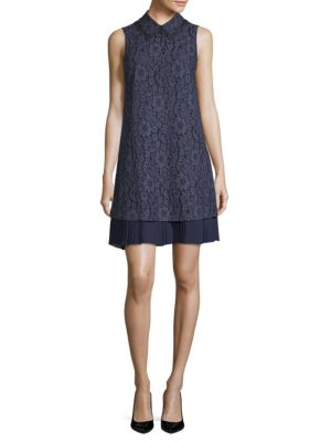 Lace Sleeveless Shift Dress