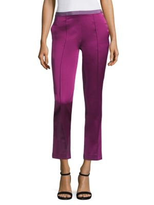 Cropped Sateen Pants