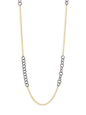 LONG MIXED LINK CHAIN NECKLACE