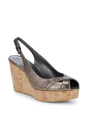 VENT SLING-BACK WEDGES