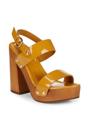 Dea Block Heel Leather Sandals