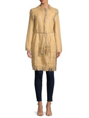 Leather Fringe Coat