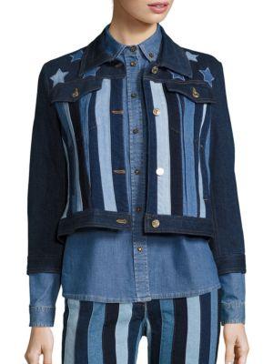 Stars & Stripes Patchwork Cropped Jacket