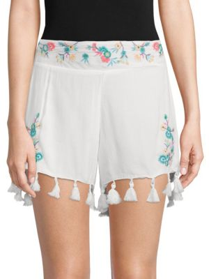 ASHLYN EMBROIDERED FLORAL SHORTS