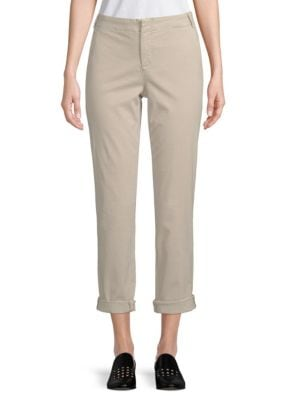Relaxed-Fit Cotton-Blend Chinos