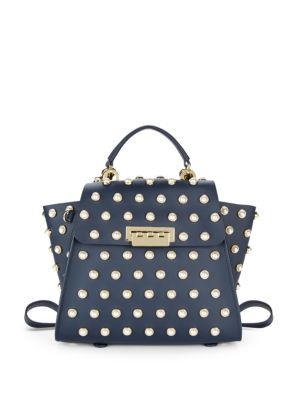 Eartha Iconic Convertible Backpack in Navy Pearl Lady