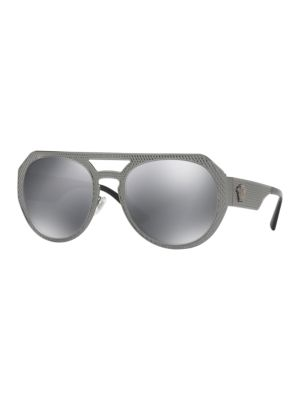 60MM Textured Aviator Sunglasses
