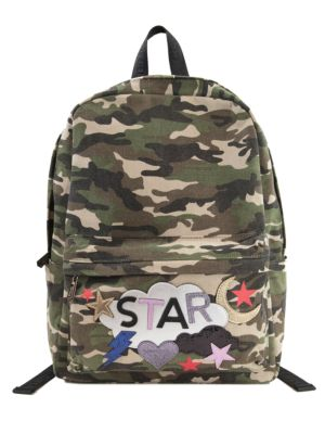 CAMO AVERY CAMOUFLAGE CANVAS BACKPACK