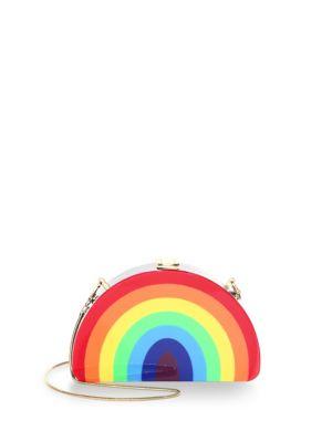 Rainbow Half Moon Clutch