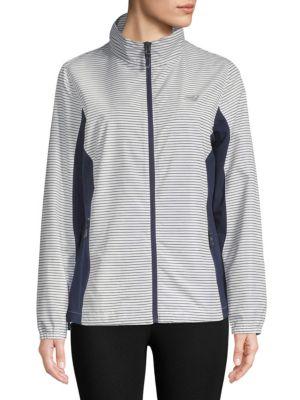 Striped Full-Zip Jacket