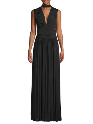 RUCHED EVENING GOWN