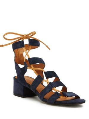 Chrissy Side Ghillie Suede Sandals