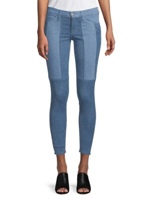 Patchwork Cotton Skinny Jeans