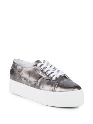 Army Chrome Camouflage Platform Sneakers