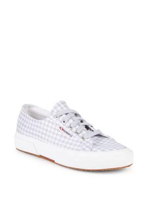 Gingham Canvas Platform Sneakers