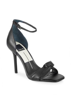 HELANA BOW LEATHER SANDALS