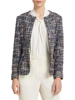 Collarless Full-Zip Jacket