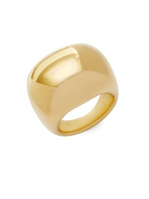 MADE IN ITALY 14K YELLOW GOLD BOLD BAND RING