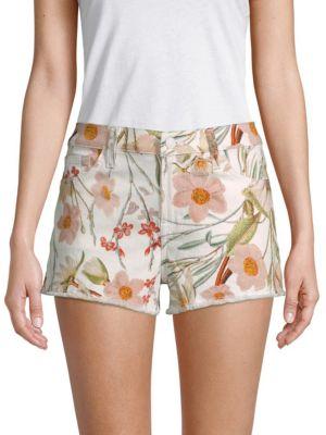 Floral Cut-Off Shorts